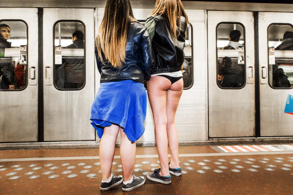 No Pants Subway Ride –© Bob Van Mol
